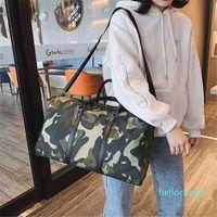 Duffel Bags Customized Large Capacity Nylon Sports Gym Bag Female Handbags Portable Overnight For Women Travel Camo Duffle
