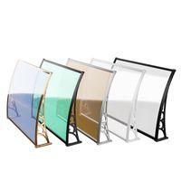 Board CP de haute qualité Facile à installer DIY Arbours Porte Fenêtre de porte d'extérieur Patio Couverture de Patio UV Protection de neige de pluie d'une pièce Polycarbonate Hollow Hollow Hollowhedhed