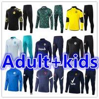 2021 2022 Erkek + Çocuklar Futbol Eşofman Jersey Kitleri 21 22 Erkekler Çocuk Formaları Futbol Eğitim Takım Elbise Eşofman Ceket Koşu Setleri