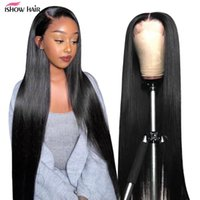 Ishow Straight Brazilian Full Lace Human Hair Wigs Natural Color Lace Front Wig for Women Girls All Ages 8-26 inch Peruvian Malaysian