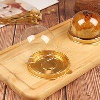 Yuvarlak Plastik Kek Kutusu Pişirme Ambalaj Kutusu Yumurta Yumurta Bisküvi Altın Siyah Plastik Blister Kutusu Konuklar Için Parti DHF5708 Şekeri