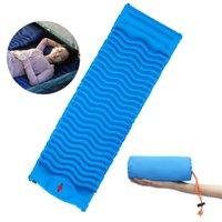 Fast inflável acampamento dormindo almofada Dobrável ultraleve ao ar livre esteira de ar colchão de cama com almofada caminhada turismo almofada de almofada de praia