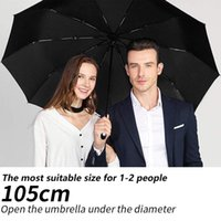 Umbrellas Wind Resistant Fully-Automatic Umbrella Rain Women For Men 3Folding Gift Parasol Compact Large Travel Business Car 10K