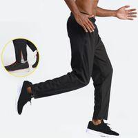 Pantaloni da uomo LULU Pantaloni Slim Pantaloni Slim Pantaloni LU Elastici Comfy Pantaloni sportivi Fitness Running Quick Dry Autunno Inverno Autunno Outdoor