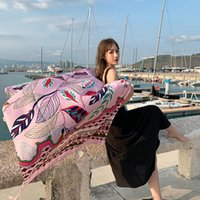 Bufandas étnica viento bufanda femenino borla impresión grande mantón primavera y verano viaje playa vacaciones de sol protector solar