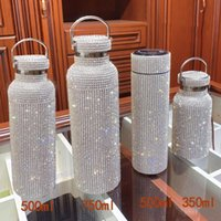 500ml 350ml crystal Creative Diamond Thermos Bottle Water Bo...
