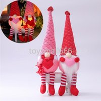 Valentines day decorations glowing gnomes faceless doll Valentines day gifts love gnomes decoration ornament dolls 2021