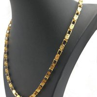 Chains Gold Necklace Men Stainless Steel Long Jewelry On The Neck Fashion Hip Hop Chain Gifts For Male Accessories