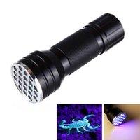 Fine UV Ultra Violet 21 LED Mini Blacklight Torcia in alluminio Lampada luminosa 88 WWO66 torce torce