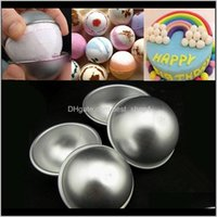 2Pcs Set 3D Aluminum Half Round 3D Molds Alloy Sphere Cake Pan Tin Baking Pastry Ball Mold Diy Pudding Baking Mold Qu5Dv 7Yowx
