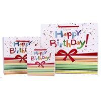 هدية التفاف 5 قطع عيد ميلاد سعيد بيئة الصديقة كرافت ورقة حقيبة مع مقابض إعادة تدوير متجر متجر التعبئة والتغليف DWD9341
