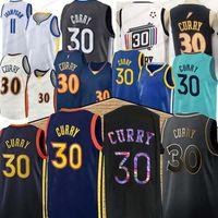 GoldenState Stephen New 30 Curry 11 Thompson Баскетбол Джерси Мужчины Top Blue Белый Черный Баскетбол Майки 2020 Верх