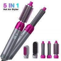 5 em 1 Secador de Cabelo Elétrico Escova escova escovas de ar quente pente de cabelo secador de cabelo endireitando pentes curling