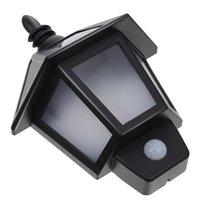 Lámparas solares 1 Conjunto Lámpara de pared LED con energía solar simple Luz de detección de personas humanas