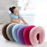 Pillow Neck U-Shape Pillows For Car Airplane Support Memory Foam Travel Accessories Comfortable Sleep Home