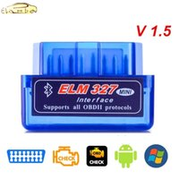 Ferramentas de diagnóstico OBD v2.1 V1.5 Mini Elm327 OBD2 Bluetooth Auto Scanner OBDII 2 Carro Elm 327 Tester Tool para leitor Android