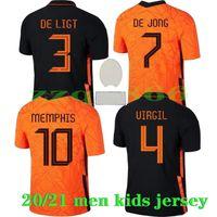 2021 Memphis Virgil Футбольная футболка De Jong Wijnaldum Streotman Van Dijk 2022 Футбол Джерси Взрослые Мужчины + Детский Комплект