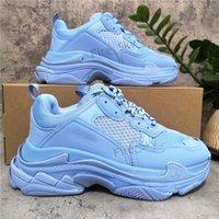 최고 품질 트리플 s 남성 여자 캐주얼 신발 다채로운 흰색 검은 파란색 낮은 오래 된 조합 부츠 스포츠 크기 36-45