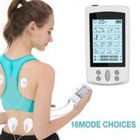 Massager complet Emandostimulator Electrodes Pulse Digital EMS Acupuncture Physiothérapie Tens Machines 16 modes Massage Vibration Pads