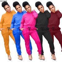 Outfits GL155 Women's Hooded Top+Pencil Pants Suit Two Piece Set Sportswear Night Club Party Overall Casual Women Spring Tracksuits