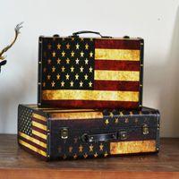 Tissue Boxes & Napkins Wooden Main Material, Retro Nostalgic Suitcase, Non-woven Interior Decoration, Storage Box, Finishing Box Decoration