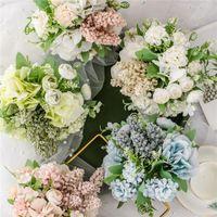 Decorative Flowers & Wreaths 13pcs 30cm Artificial Silk Bouquet Small Peony Bunch Wedding Home Outdoor Decor Decoration