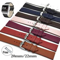 Bands 12 14 16 18 20 22mm Strap Samsung Galaxy Watch 46mm Gear S3 Frontier Active 2 Leather Watchband for Amazfit Bip