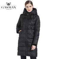 Gasman Толстые женщины Bio Down Куртка Бренд Длинные Зимние Пальто с капюшоном Теплые Парки Мода Женская Коллекция 1827 210923