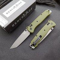 Benchmade 537 Bragout Axis Pieghevole Coltello Pieghevole Grivolante Maniglia D2 Pocket Pocket / Survival / EDC Coltelli 537GY C07 Tactical BM 535 485 9400 940 15080 484S-1 GURANTE