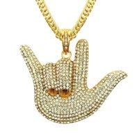 디자이너 목걸이 링 링 팔찌 쥬얼리 횡축 멋진 전체 다이아몬드 손가락 트렌디 한 남자 펜던트 힙합 개인 제스처 액세서리 도매