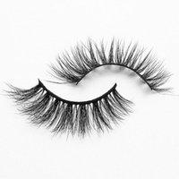 False Eyelashes Reusable Natural Style Thin 3d Wispy Volume Lashes Makeup Real Mink Big Dramatic Wholesale Looking Lash