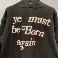 3D 거품 인쇄 Kanye West CPFM ye yeart yere tair pullover men 여성 1 : 1 고품질 스웨터 아이들이 유령을 보는 Hoodie VIP 6il7