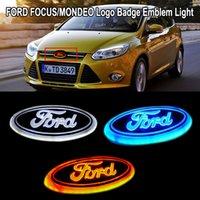 14.5 cm * 5.6 cm ön kaput ve arka kuyruk gövde araba logosu rozeti amblemi ford mondeo odak kuga 5D 4D için led ışık lambası