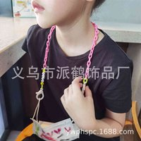 bracelet Woven rope acrylic bule anti slip loss Sunglasses chain children's smiling face pendant mask glasses