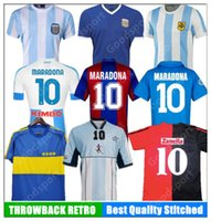 Retro Argentinien 78 86 85 Maradona Soccer-Trikots 82 83 93 94 81 95 Boca Messi 87 Neapel Napoli Fußball-Hemd Kinder Newells Alte Jungen Klassiker
