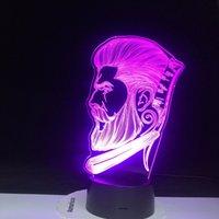 الحلاق متجر الأعمال الصمام ليلة ضوء صالون تجميل صالون تصفيف الشعر علامة الإبداعية مصباح 3D الوهم البصري الجدول