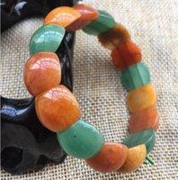 Natural winter lingyu seven colored egg noodle bracelet free ship ping F1