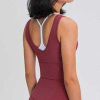 lu Yoga Top Vest High Strength Indoor Sport Gym Fitness Tees Shirt Women Athletic Underwear Tanks Ropa Deportiva Para Mujeres