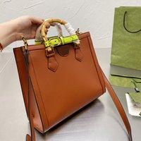 Diana Bambus Shopping Handtasche Klassische Quadrat Crossbody Tragetaschen Damen Qualität Schulter Mssenger Zurück Paketbrief GG Multiple Farben