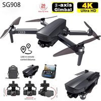 Est Three-Axis Gimbal Drone With 4K Professional Camera 5G GPS WIFI FPV Dron Brushless Motor RC Quadcopter PKSG907 Drones