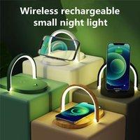 2021 무선 충전기 작은 야간 조명 15w 휴대 전화 스탠드와 함께 퀵 chargers 1 테이블 램프