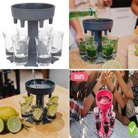 6 atış likör distribütörleri çıkarılabilir yaratıcı cam bira dağıtıcı tutucu araçları arkadaşlar şarap bölücü yemek parti malzemeleri 15JK K2