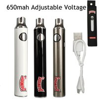 Dabwoods Batterie de Vape 650mAh Préchauffage Tension réglable 510 Filetage Vape Stylos Piles Dabwoods Chariots Piles avec câble USB Boîte d'emballage de la vente au détail OEM Bienvenue Bienvenue