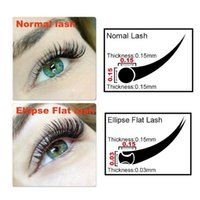 False Eyelashes LASHPLUS Matte Flat Eyelash Extensions Wholesale Individual Mink Softer Supplies Ellipse Lash Split Tips