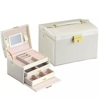 Jewelry Packaging Gift Box Leather Package Storage Large Space Ring Necklace Bracelet Pouches, Bags