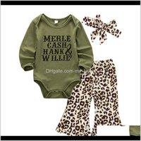 Sets Clothing Baby, Kids & Maternitycitgeeautumn 3Pcs Born Baby Girl Boy Tops Green Romper +Long Pants Headband Fall Spring Outfits Clothes S