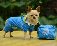 Dog Apparel Pets Raincoat Clothes Four Feet Waterproof Puppy Casual Pet Hoodie Jacket Size XXS-XL For Rain