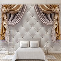 Пользовательские товары любого размера 3d обои современные европейские шторы мягкие фоны росписи гостиная диван спальня дома декор стены живопись