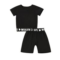 Baby Clothing Sets Boy Suit Boys Outfits Casual Children Kids Summer Cotton Short Sleeve T-shirts Shorts Pants 2Pcs Tracksuit B5262