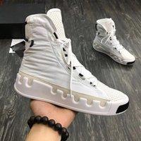 Натуральная кожа Y3 повседневная обувь ботинки Kanye West Red White Black High-Top мужские кроссовки водонепроницаемый ADF4451 LJW